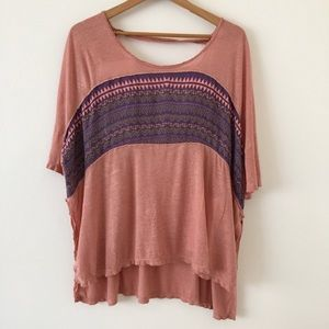 Free People | Top Tee Oversized Patterned S
